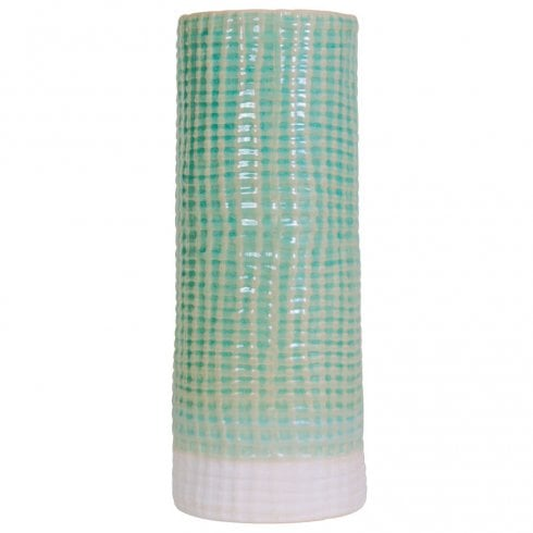 Libra Shorton 907894 Tall Mint Ceramic Vase