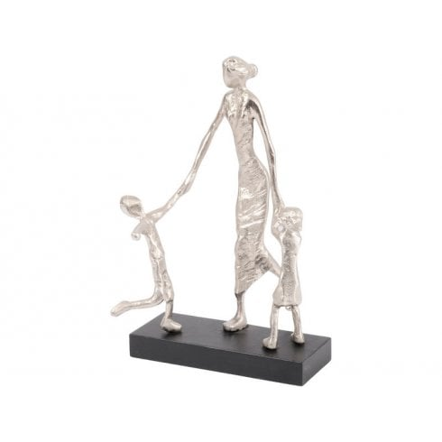 Libra Sculpture Mother Playing with Children  702921 Silver