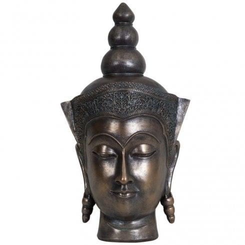 Libra Sculpture Buddha Head 703930 Rustic Bronze