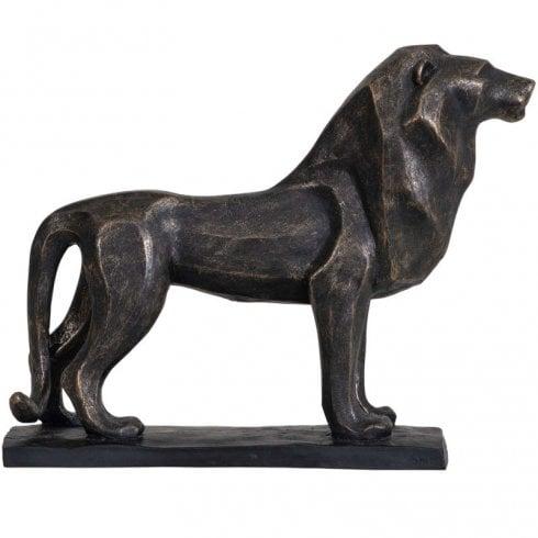 Libra Sculpture Cubist Resin Lion 703931 Bronze