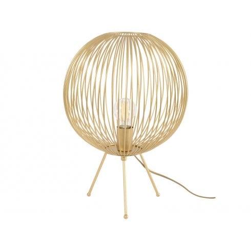 Libra Tova Spherical Tripod Table Lamp 702881 Gold