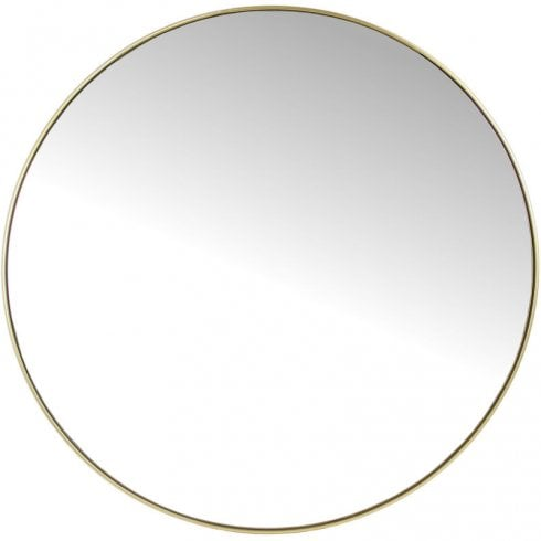 Round Mirror with Slim Gold Metal Frame 903793 Gold