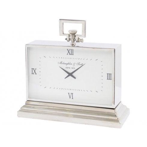 Libra Latham 137174 Medium Rectangular Clock Aluminium