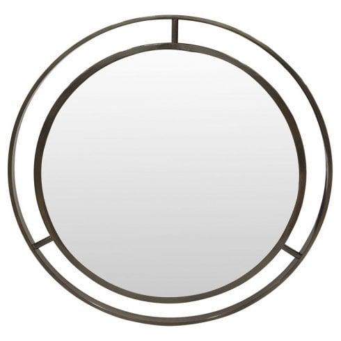 Libra MTO Chester 703866 Tri-Star Round Mirror Black Nickel