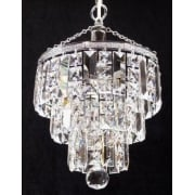 4 Tier 190/11/3 Crystal Square  & Lozenge Trimmings  Round Pendant