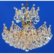 Domingo 3821/38/4 Gold Plated With Crystal Balls Chandelier