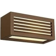 232497 Box-L E27 Square Rust-Coloured Wall Light