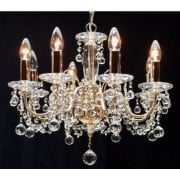 Figaro 400/8 Gold Plated With Crystal Ball Trimmings Chandelier