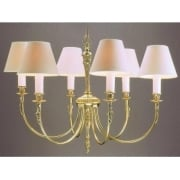 RICHMOND SMBB00016/PB Polished Brass With Shade 6 Light Pendant