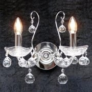Fantastic Concerto 1524/2B Chrome With Lead Crystal Ball Trimmings Wall Bracket