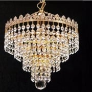 4 Tier Chandelier 166/10/1 With Crystal Trimmings Ceiling Light