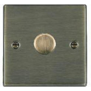 Hartland 791X40 Antique Brass 1 gang 400W 2 Way Leading Edge Push On/Off Resistive Dimmer