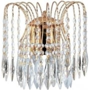 Searchlight Waterfall 5172-2 Gold With Crystal Detail Wall Light