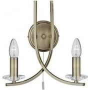 Ascona 4162-2AB Antique Brass And Glass Wall light