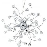 The Sonja 6629-24CC Multi- Arm Hanging Crystal ball pendant Halogen