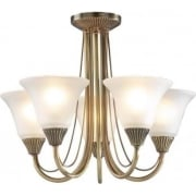 Boston BOS05 Antique Brass 5 Light Ceiling Light