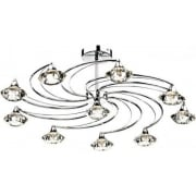 Dar Luther LUT2350 Polished Chrome Semi Flush 10 Light Ceiling Fitting