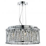 Elise 8334-4CC Crystal Button Drops Pendant Ceiling Light