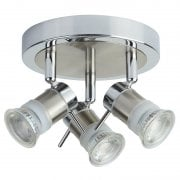 Searchlight Aries 7443CC-LED Chrome Round 3 Ceiling Spotlight IP44