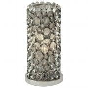 Libra Venus Nickel Tube Table Lamp 136978