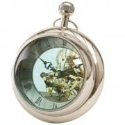 Libra Paperweight Clock 137801 Nickel Silver