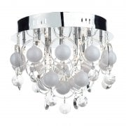 Dar Cloud 9 Light Flush Ceiling Light Polished Chrome