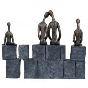 Libra Sculpture Family of Four on Wall 703936 Bronze