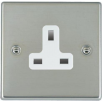 Hamilton Hartland 73US13W Bright Chrome 1 gang 13A Unswitched Socket