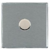 Hamilton Linea-Duo CFX LD1X40BC-SS Satin Steel 1 gang 400W 2 Way Leading Edge Push On/Off Resistive Dimmer