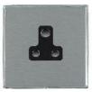 Hamilton Linea-Duo CFX LDUS5BC-SSB Satin Steel 1 gang 5A Unswitched Socket