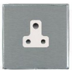 Hamilton Linea-Duo CFX LDUS5BC-SSW Satin Steel 1 gang 5A Unswitched Socket
