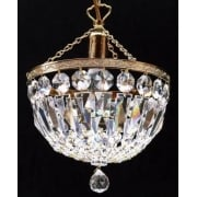 Baguette 171/10/1 Gold Plated Crystal  Trimmings Ceiling Light