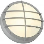 Bulan Grid 229084 Round Silver Grey Wall Light