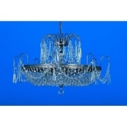 ROSTOCK ST00127/46/06/AN Antique Nickel With Crystal Detail Chandelier