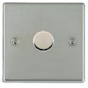 Hartland 731X60 Bright Chrome 1 gang 600W 2 Way Leading Edge Push On/Off Resistive Dimmer