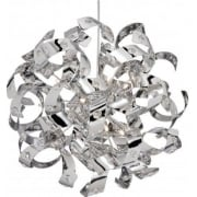Curls 5816-6CC Chrome With Crystal Detail Pendant