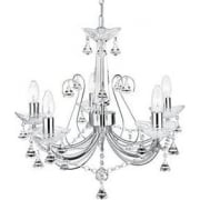 Lafayette 1395-5CC Chrome And Crystal Chandelier