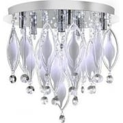 Spindle 2456-6CC Chrome And Glass Flush Light