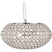 Chantilly 7163-3CC Chrome And Crystal Ceiling Light