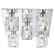 Searchlight Electric Cool Ice 2275-5 Flush Ceiling Light