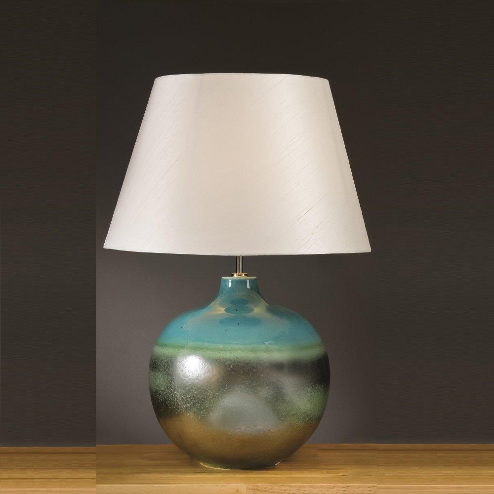 Elstead Lighting Laguna Turquoise & Silver Table Lamp ...
