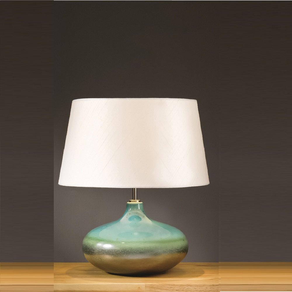 Elstead Lighting Laguna Turquoise Silver Table Lamp Small
