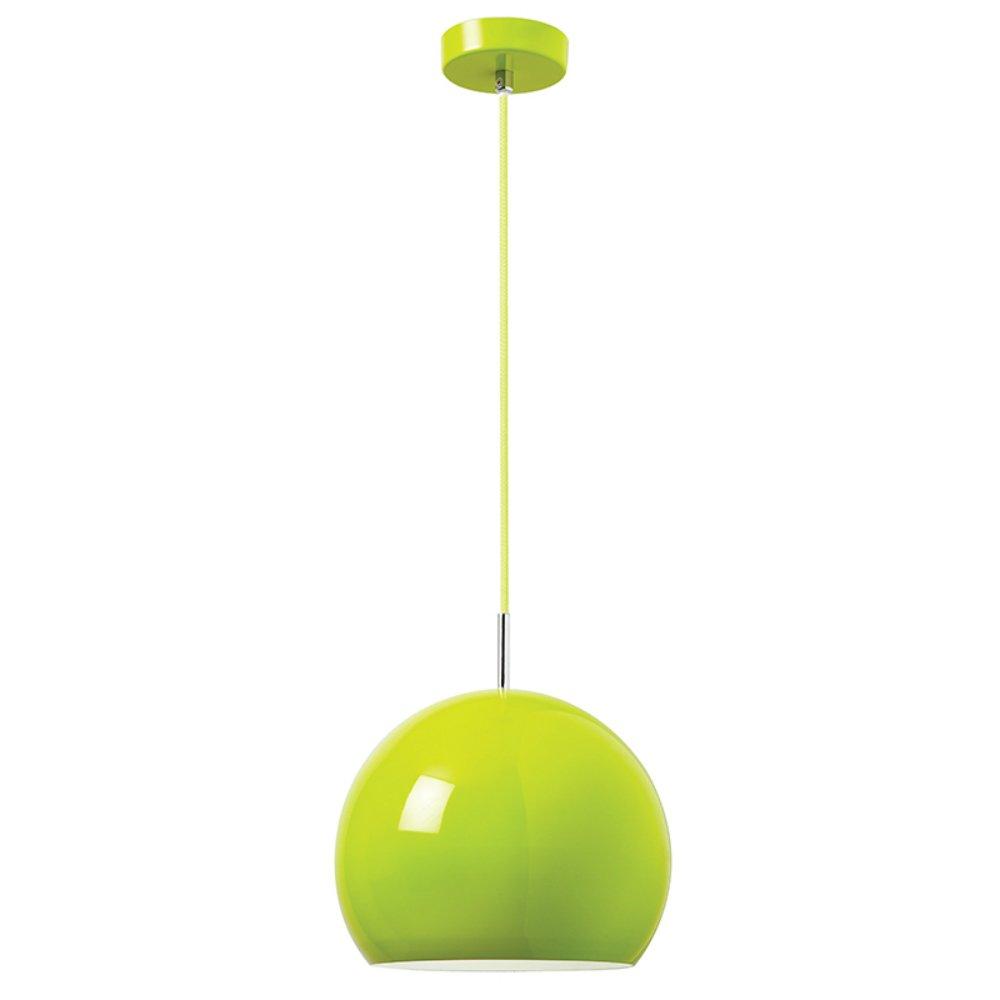 Endon Lighting Alzira Gr Green Pendant Ceiling Light