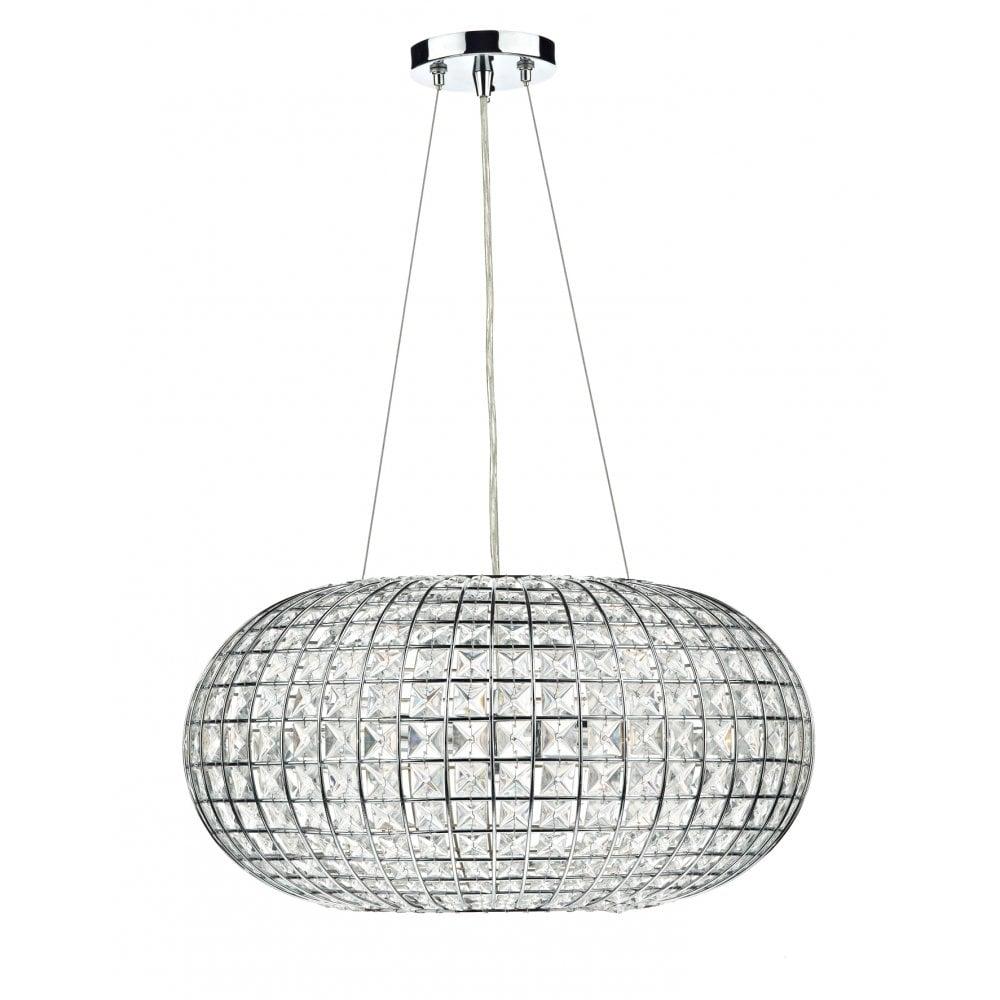 dar lighting plaza pla0350 polished chrome 3 light pendant