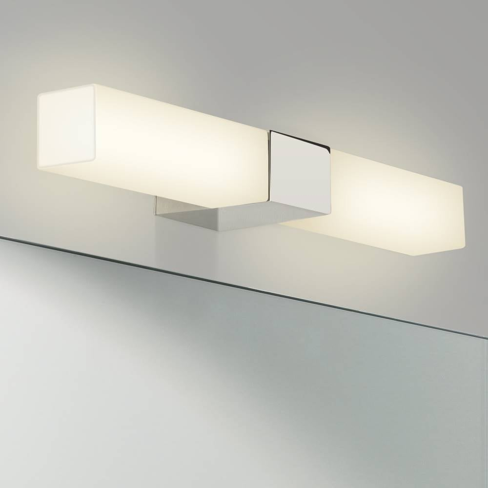 square bathroom lights mirror wall light by astro fast and free delivery 14537