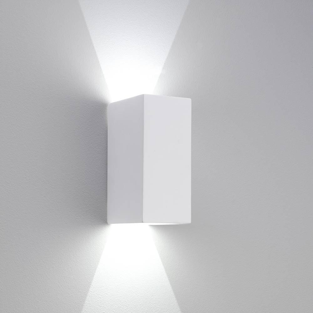 up down lights pillar astro lighting parma 210 7273 plaster finish updown surface wall light shop online at lightplan