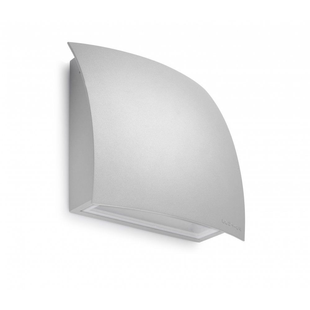 Wall Light Glass Diffuser : LedsC4 Lighting Surf 05-9485-34-T2 Light Grey Aluminium with Matt Glass Diffuser Wall Light ...