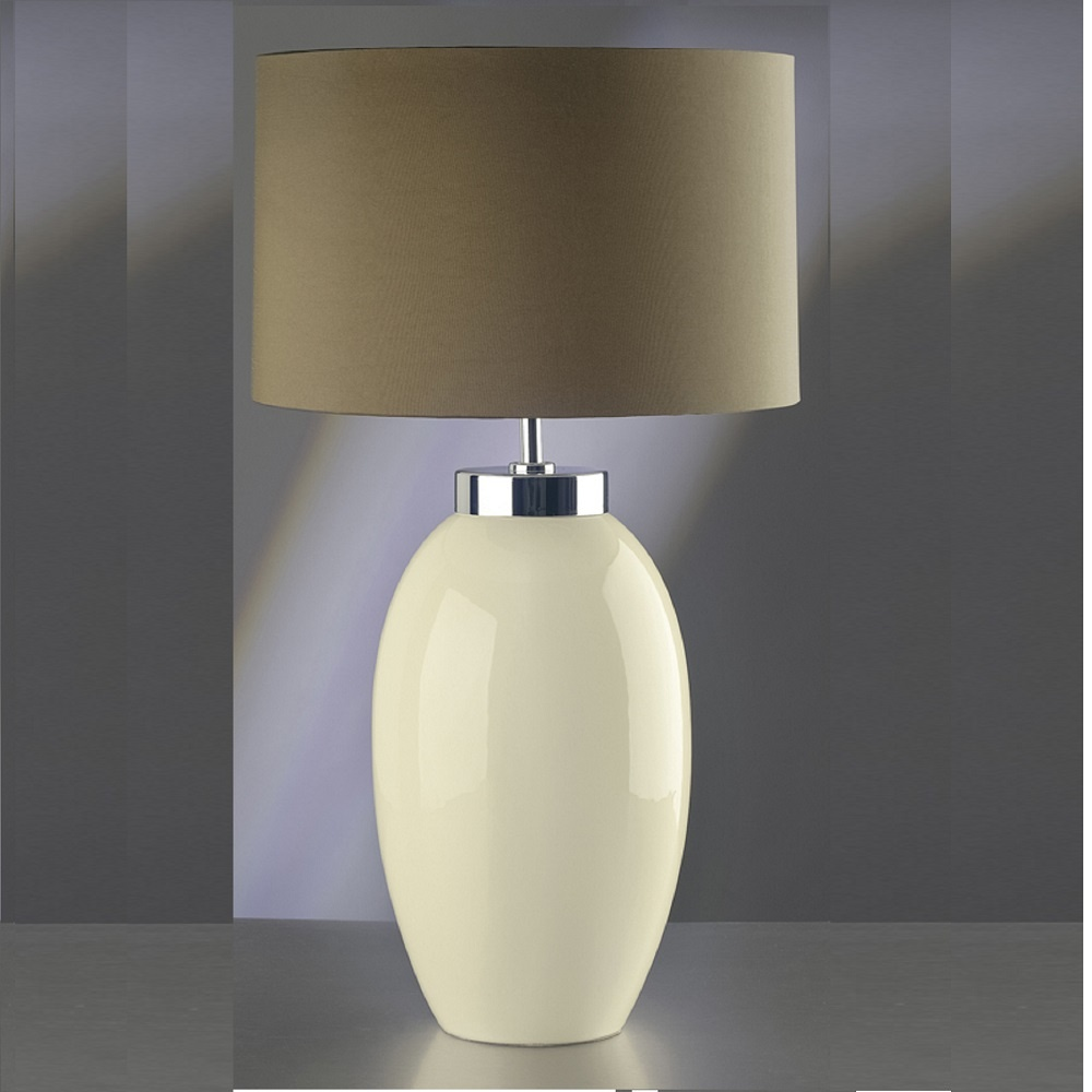 Elstead lighting victor cream table lamp large elstead for 12 volt table lamps